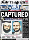 Khalid Shaikh Mohammed is captured. Click on the newspaper front cover image for a larger view.